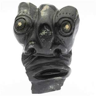 Inuit Carved Stone Face