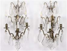 Pair of French 3Light Wall Sconces