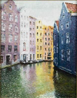 Larry Levow, Venice, Oil on Canvas, 2007