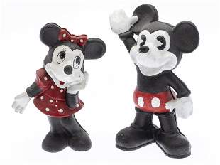 Mickey and Minnie Cast Iron Piggy Banks, Modern