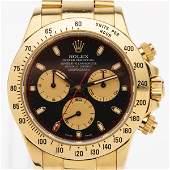 Rolex Daytona 18K Gold Black Dial Men's Watch