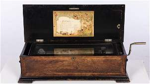 Jacot Rosewood Cylinder Music Box, c. 1890