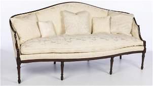 George III Style Mahogany Settee, 19th Century