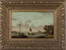 Dutch School, Style of Van Os, River Landscape, O/B
