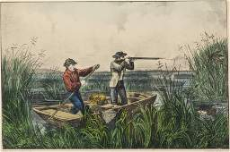 Currier and Ives, Water Rail Shooting
