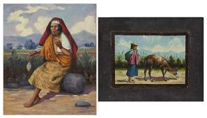 Jorge Levoyer (Ecuador, Early 20 C) 2 Works, C. 1939