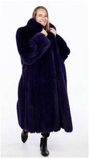 Purple Dyed Fox Coat