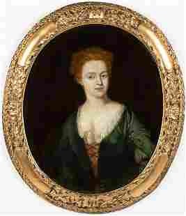 British School, Portrait of a Woman, 18th Century