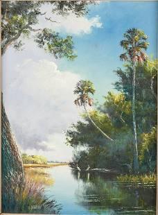 Sam Newton, Wading Birds, Oil on Masonite