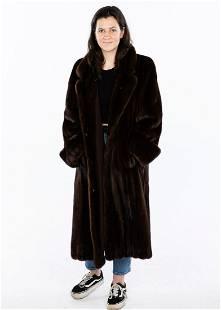 Mink Three Quarter Length Coat