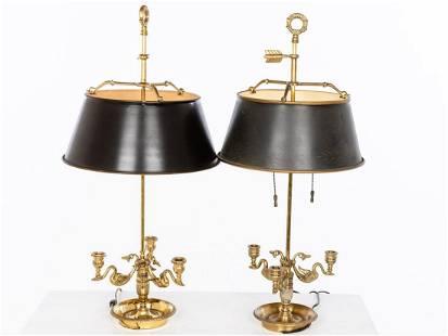 Two Similar Bouillotte Lamps