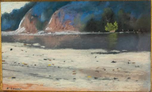 Katherine Adams Lovell, Rocky Beach, Pastel