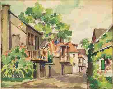 John Cuthbert Hare, St. Augustine, Watercolor