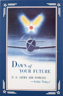 WWII US Army/Air Forces, Dawn of Your Future, Poster