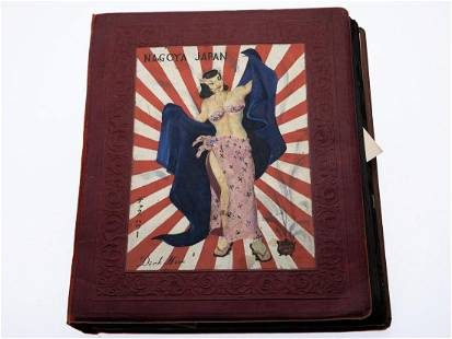 Occupied Japan Themed US Military Scrap Book