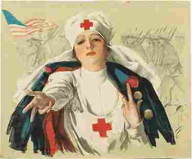 Harrison Fischer Red Cross Nurse, WWI Poster