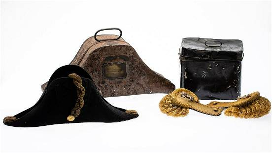 Royal Naval Officer's Bicorn Hat and Epaulettes