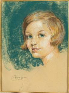 Leonebel Jacobs, Portrait of a Child, Pastel