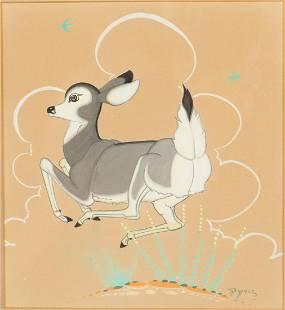 Beatien Yazz (Jimmy Todd), Navajo Gouache Painting