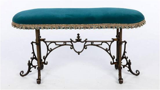 Wrought Iron Small Bench