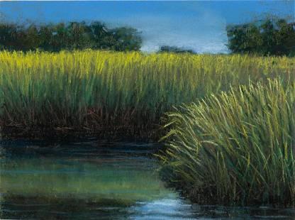 Larry Levow, Marshes Secret Races, Pastel