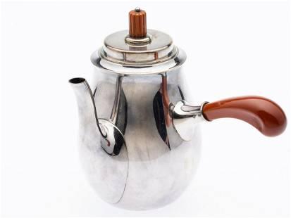 Danish C. C. Hermann Sterling Silver Coffee Pot