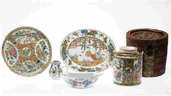 5 Pieces of Famille Rose Serving Articles