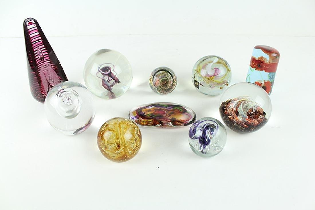 Glass Paperweights (ten)