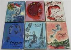 Marc Chagall art books (six)