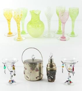 Decorative Art Glass & Objects (twelve)