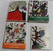 Joan Miro art books with lithographs four