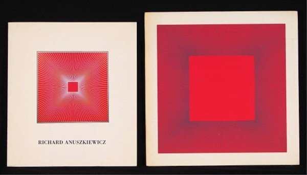 3: Art Books: Richard Anusziewicz (two) (with screenpri
