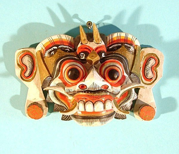 470: A Southeast Asian Demon, hand carved and painted w
