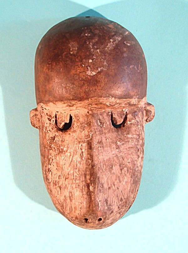 471: MONKEY MASK, a hand carved and painted wood mask w