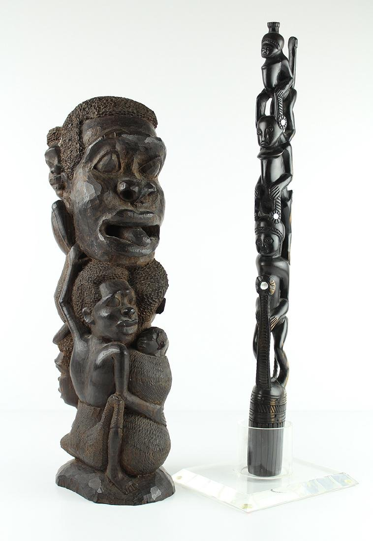 African Art Makonde Tanzania & Another (two)