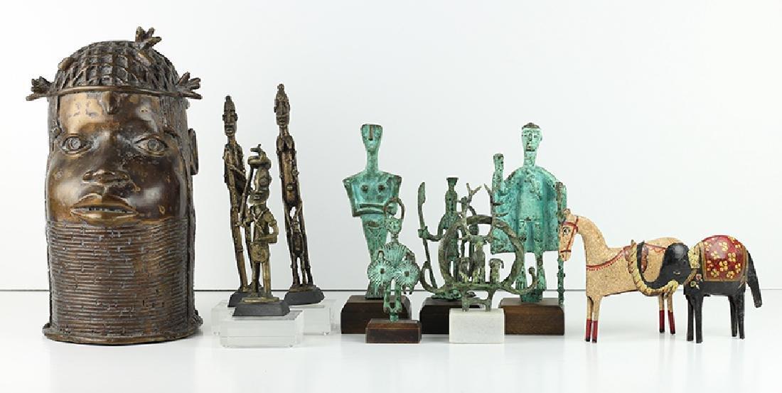 African & Metal Figures (eleven)