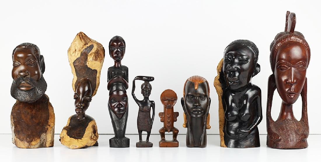 African Wood Carvings (eight)