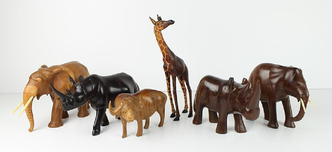 African Wood Carvings (six)