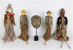 Indonesian Puppets & a Mask (six)