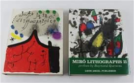 Joan Miro lithograph books two