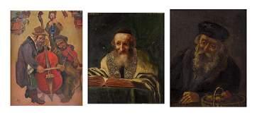 Jewish Artists Unidentified (three)