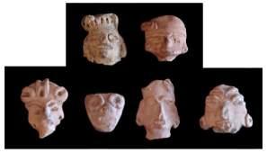 668 PreColumbian ceramics six