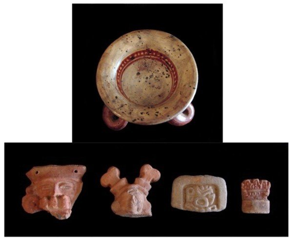 673: Pre-Columbian ceramics (five)
