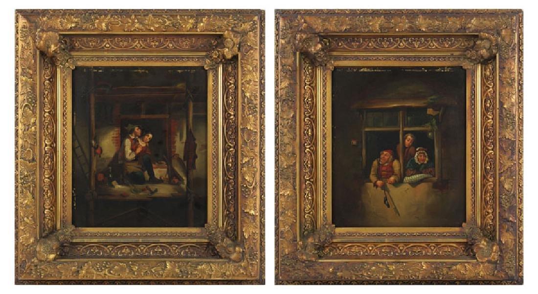European Artist Unidentified (19th Century) (two) - 2
