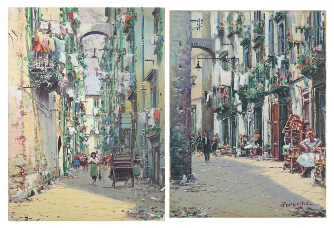 Mario Ferdelba (20th Century) Italian (two)