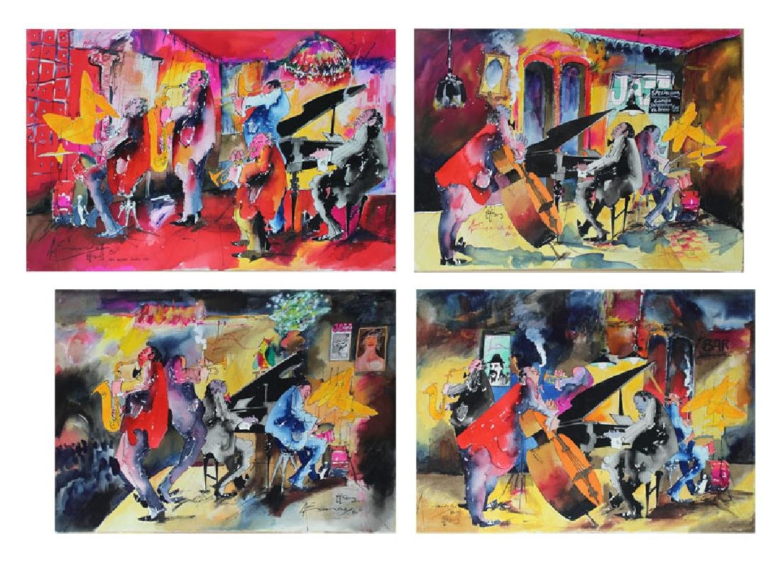 Leo Meiersdorff (1934-1994) New Orleans (four)