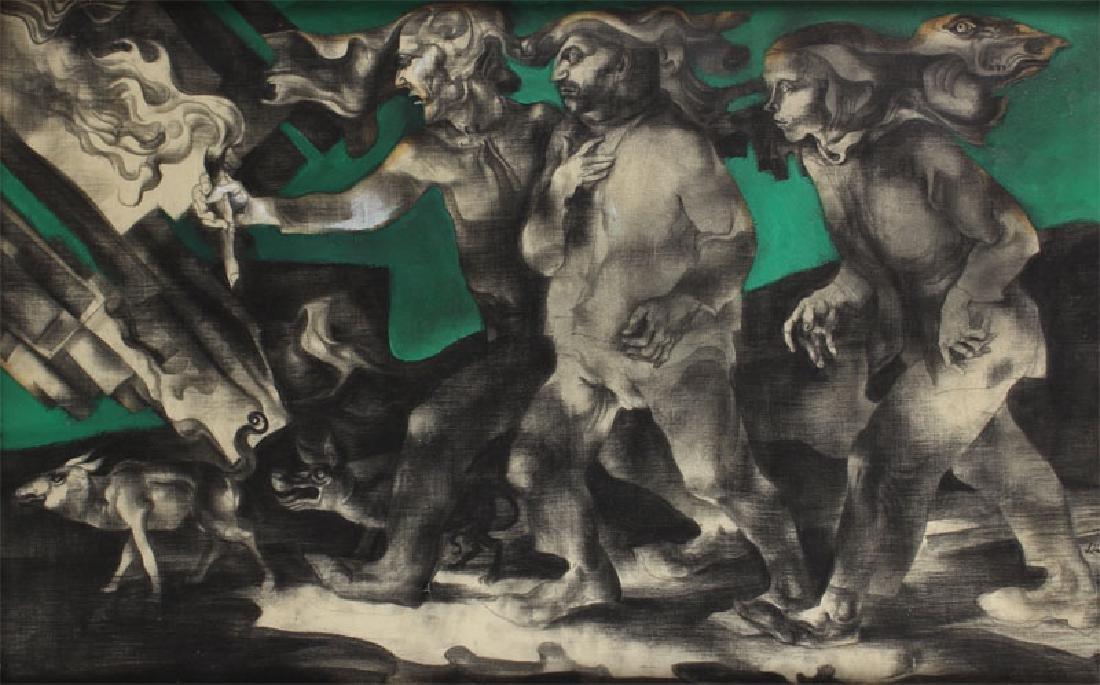 Endre Szasz (1926-2003) Hungarian (two) - 2