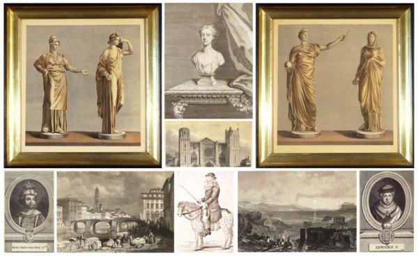 451: 18th/19th Century prints (fourteen)
