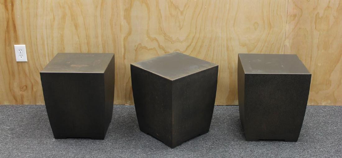 Furniture: Metal End Tables (three)