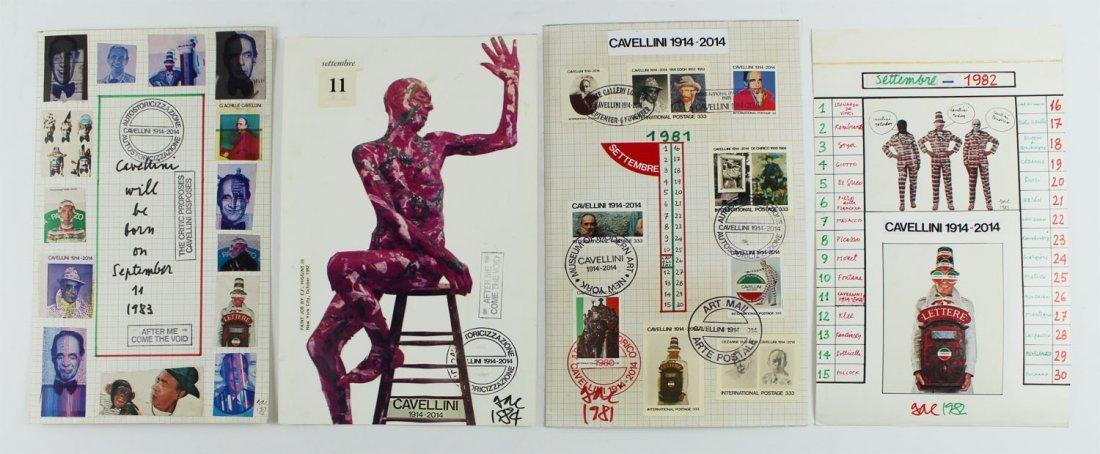 Mail Art by Achille Guglielmi Cavellini (1914-1990)